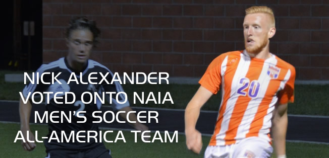 Nick Alexander voted onto NAIA mens soccer all-america team